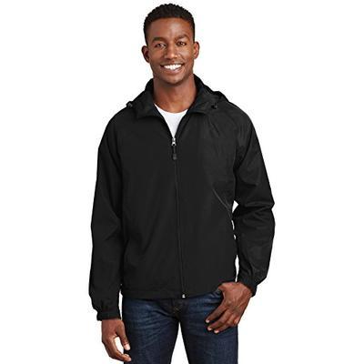 Sport-Tek Men's Hooded Raglan Jacket S Black