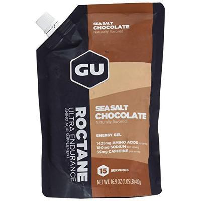 GU Energy Roctane Ultra Endurance Energy Gel, Sea Salt Chocolate, 15-Serving Pouch