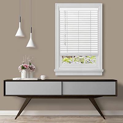"Achim Home Furnishings Cordless GII Madera Falsa 2"" Faux Wood Plantation Blind 32"" x 64"", White"