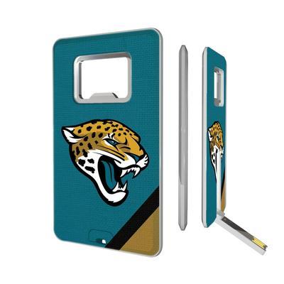 Jacksonville Jaguars Diagonal Stripe Credit Card USB Drive & Bottle Opener