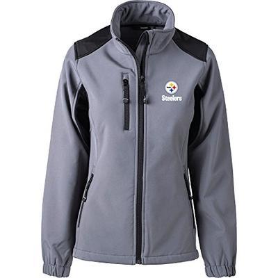 Dunbrooke Apparel NFL Pittsburgh Steelers Women's Softshell Jacket, X-Large, Black