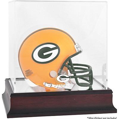 Green Bay Packers Mahogany Mini Helmet Logo Display Case