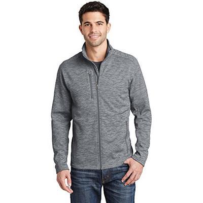 Port Authority Digi Stripe Fleece Jacket. F231 Grey M