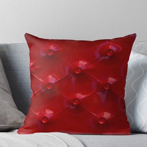 Rote Lederpolsterung Kissen