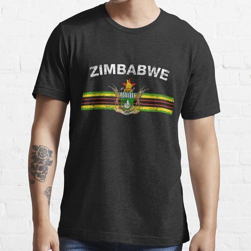 Simbabwische Flagge Shirt - Simbabwe Emblem & Simbabwe Flag Shirt Essential T-Shirt