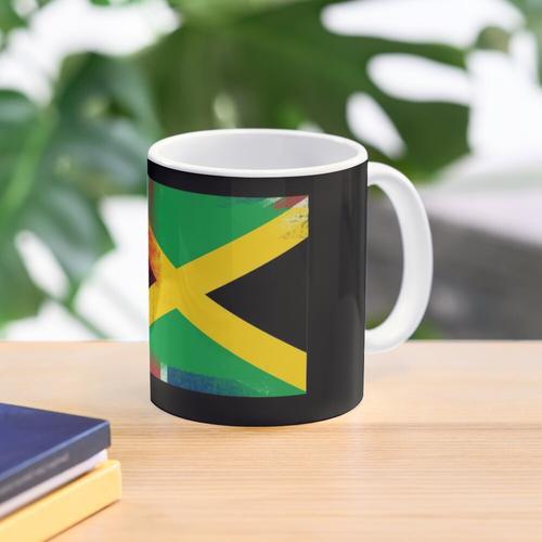 Britische jamaikanische halbe Jamaika halbe UK Flagge Tasse