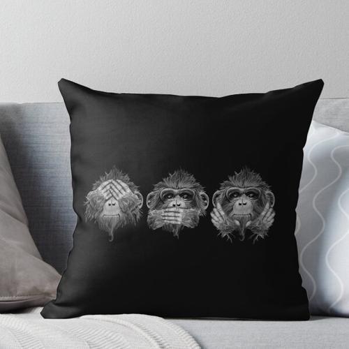 Drei weise Affen Kissen