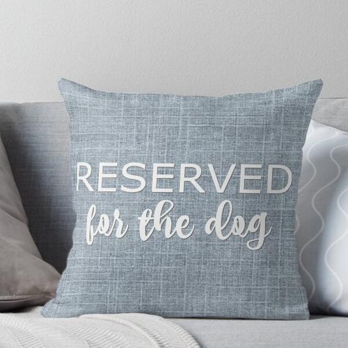 Für den Hund reserviert Kissen