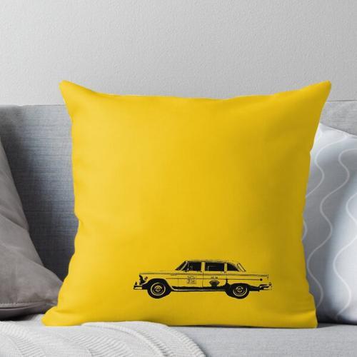 Gelbes Taxi Kissen
