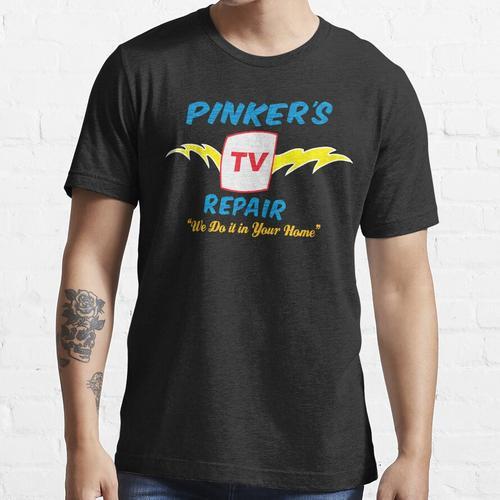Pinkers Fernsehreparatur Essential T-Shirt