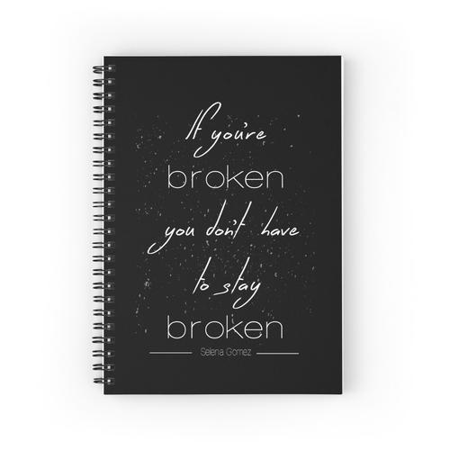 Wenn du kaputt bist, musst du nicht kaputt bleiben Spiralblöcke