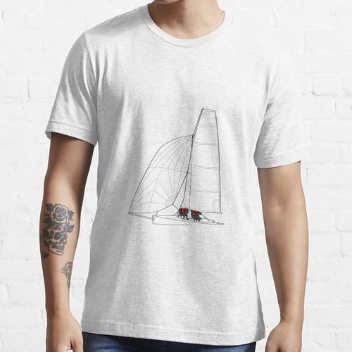 Segeln Schlauchboot Linie Art Essential T-Shirt