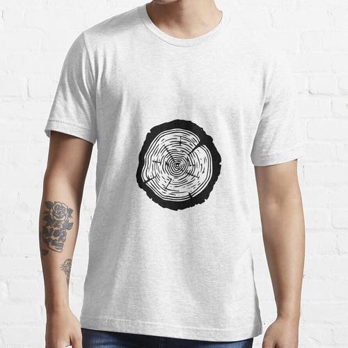 Tree Ring - Holz Scheibe Ornament, Baumscheibe Essential T-Shirt