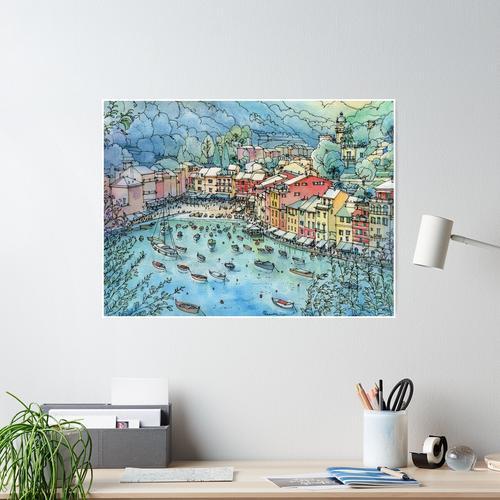 Portofino, Italien Poster