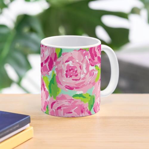 Rosen-Druck Tasse