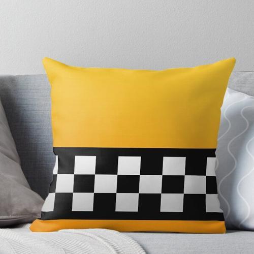 Taxi Quadrate und Streifen Kissen