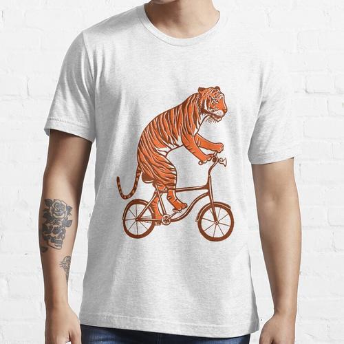 Tiger auf Fahrrad, Tiger auf Fahrrad Essential T-Shirt