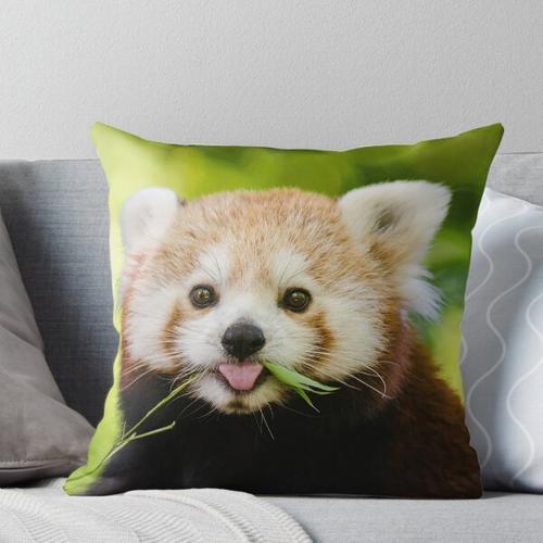 Süßer kuscheliger roter Panda Kissen