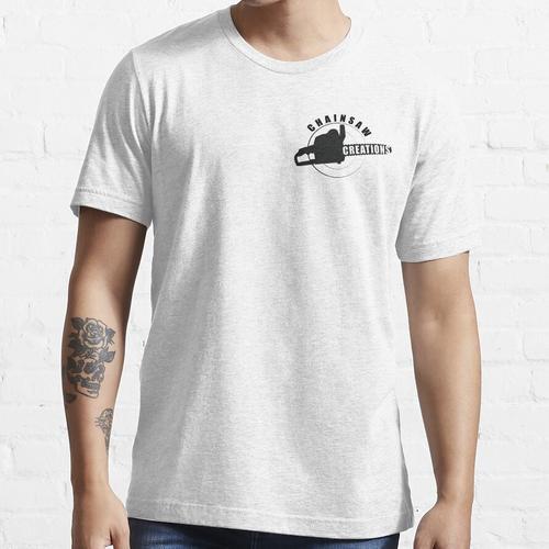 Kettensäge, die Symbol schnitzt Essential T-Shirt