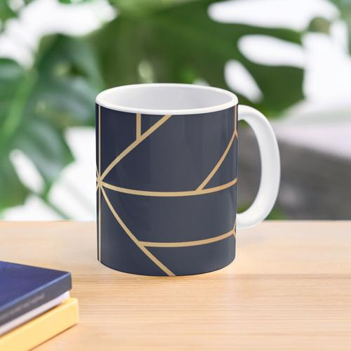 Kupfer und Navy Kristall Tasse