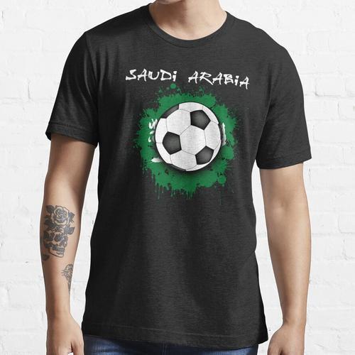 Saudi-Arabien-Fußball-Hemd - Saudi-Arabien Fußball-Hemd - saudiarabischer Fußball Essential T-Shirt
