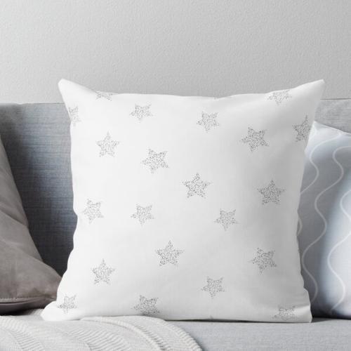 Silberne Sterne Kissen