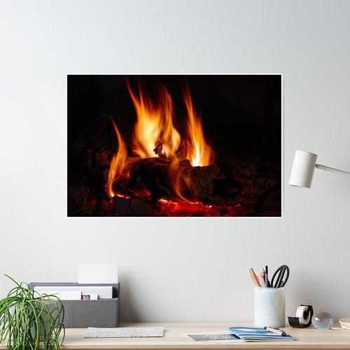 Feuer im Kamin Poster