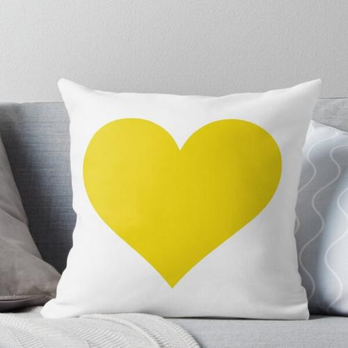 gelbes Herz Kissen