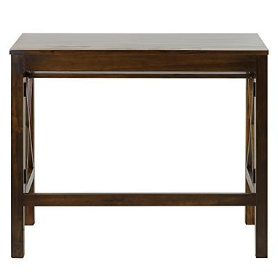 Casual Home Montego Folding Desk with Pull-Out Tray-Warm Brown