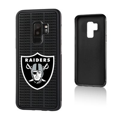 Las Vegas Raiders Galaxy Text Backdrop Design Bump Case