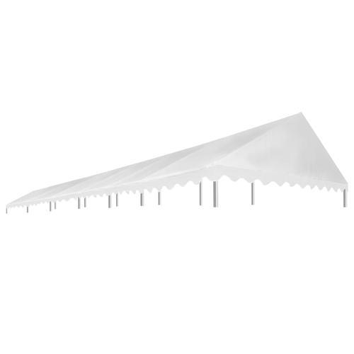 vidaXL Partyzeltdach Weiß 6 x 12 m 450 g/m²