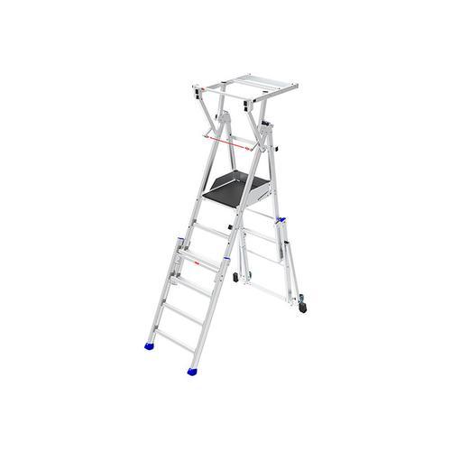 Plattformleiter Experten - B. Podesttreppe verstellbar; 4 bis 6 Stufen; Zur Benutzung auf Treppen