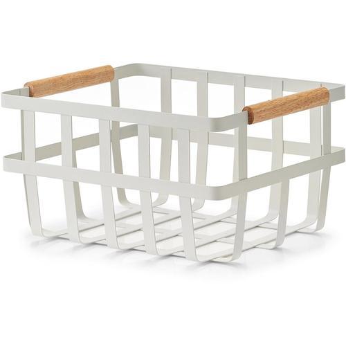 Zeller Present Allzweckkorb, Im nordischen Stil weiß Körbe Aufbewahrung Ordnung Wohnaccessoires Allzweckkorb