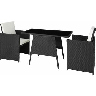 Tectake - Rattan garden furniture set Lausanne - garden tables and chairs, garden furniture set,