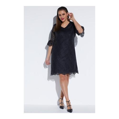 Große Größen Hochwertiges Spitzenkleid - Große Größen Damen, | Ulla Popken Kurze Kleider | Polyamid, Hochwertiges Spitzenkleid