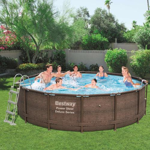Bestway Power Steel Deluxe Series Swimmingpool-Set Rund 427×107 cm
