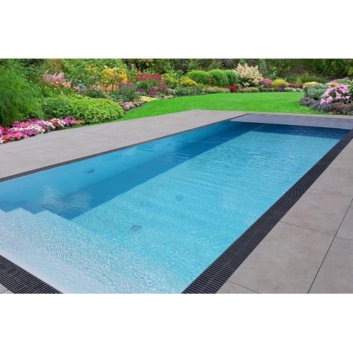 Pool-Komplettset Premium ONE® Überlauf 4,00 x 8,00m mit elektrischer / automatischer Rollladen-Abdeckung