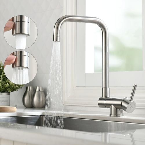360°Drehbar Wasserhahn Küche | Küchenarmatur mit herausziehbarem/ausziehbar Brause | Küche