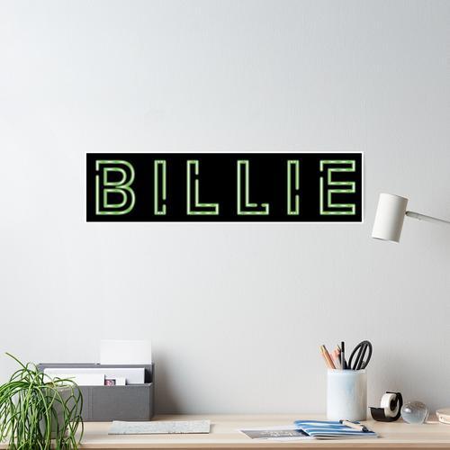 Billie Leuchtreklame Poster