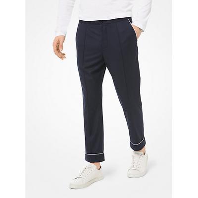 Michael Kors Woven Pajama Pants Blue 32