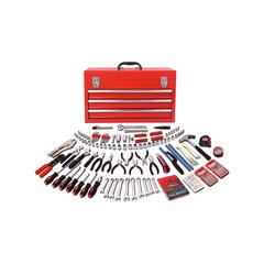 Apollo Tools Tool Sets Red, - 300-Piece All-Purpose Mechanic's Tool Kit