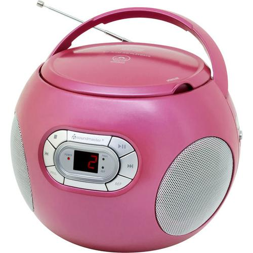 CD-Player mit UKW-Radio + Hörbuchfunktion, pink
