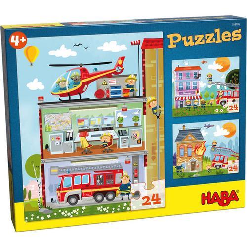 HABA Puzzles Kleine Feuerwehr, bunt