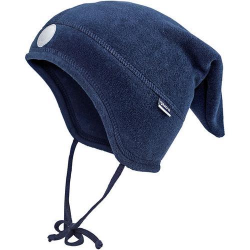 Fleece-Zipfelmütze, blau, Gr. 42/44
