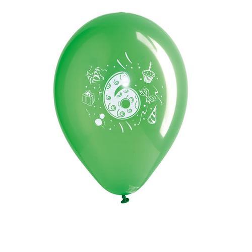 JAKO-O Geburtstagsballons Zahlen, rot