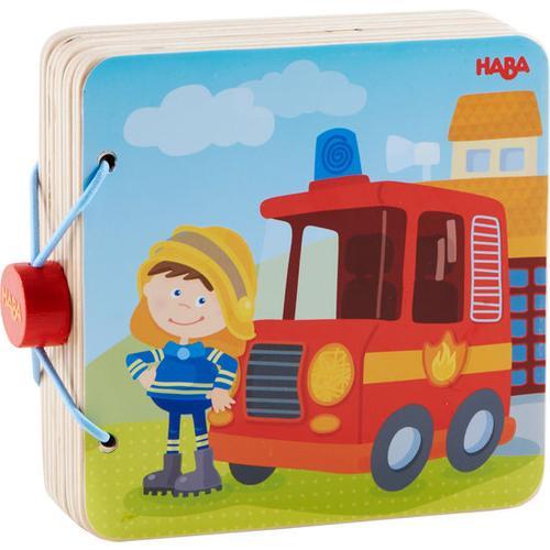 HABA Holz-Babybuch Feuerwehr, bunt