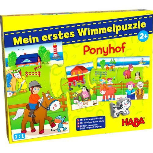 HABA Mein erstes Wimmelpuzzle - Ponyhof, bunt