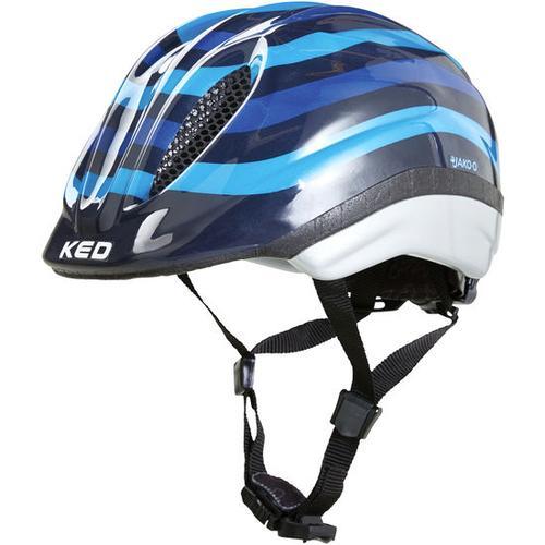 JAKO-O KED Fahrradhelm Streifen, blau, Gr. 46/51