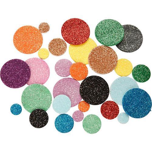 JAKO-O Moosgummi-Punkte Glitter, blau