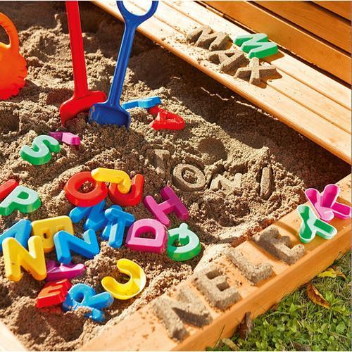 JAKO-O Sandformen Buchstaben, bunt